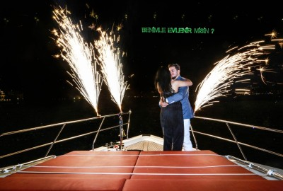 Laser Marriage Proposal On Yacht Dilan & Firat - 1013