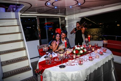 Laser Marriage Proposal On Yacht Dilan & Firat - 1015
