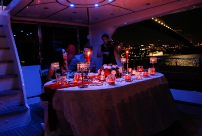 Laser Marriage Proposal On Yacht Dilan & Firat - 1016