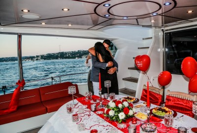 Laser Marriage Proposal On Yacht Dilan & Firat - 1007