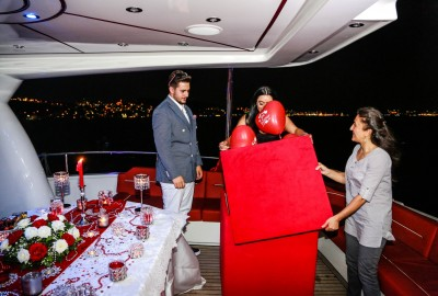 Laser Marriage Proposal On Yacht Dilan & Firat - 1008