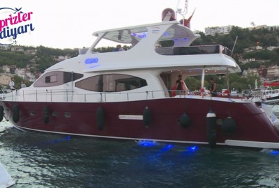 Laser Marriage Proposal On Yacht Dilan & Firat - 1018