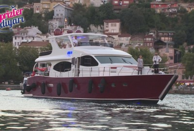 Laser Marriage Proposal On Yacht Dilan & Firat - 1020