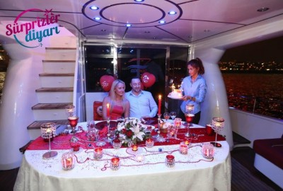 Color Laser Light Marriage Proposal in the Bosphorus - 1026