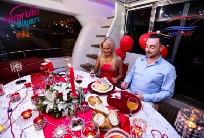 Color Laser Light Marriage Proposal in the Bosphorus - 1027