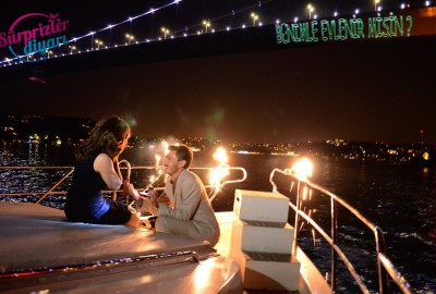 Color Laser Marriage Proposal in the Bosphorus - 1105