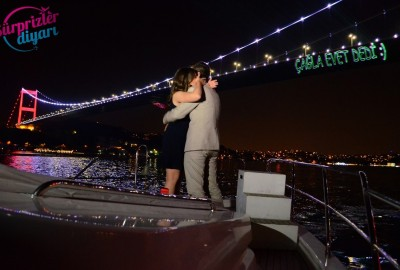 Color Laser Marriage Proposal in the Bosphorus - 1107