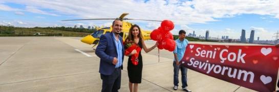 Helikopter Turu İle Evlilik Teklifi / 15 Dakika Eko Paket