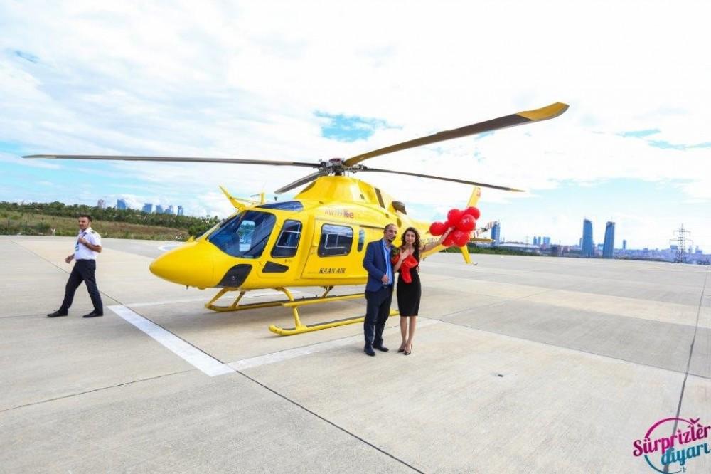 İzmir'de Helikopter ile Evlilik Teklifi