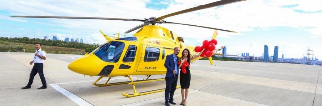 İzmirde Helikopter ile Evlilik Teklifi