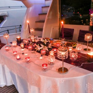 Helicopter Tour, Dinner in Çırağan and Yacht Laser Light Marriage Proposal