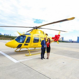 Why is a marriage proposal in the helicopter the most preferred organization?