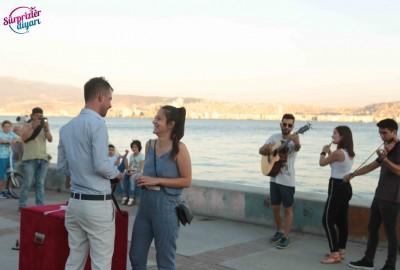 İzmir Karşıyaka'da Orkestra İle Evlilik Teklifi - 2163