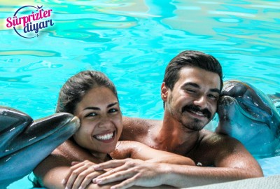 Private Swim with Dolphins and Surprise Marriage Proposal Çağlayan & Yeşim - 422