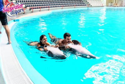 Private Swim with Dolphins and Surprise Marriage Proposal Çağlayan & Yeşim - 423