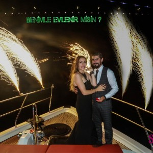 Dinner at Maiden's Tower and Yacht Laser Light Marriage Proposal / Eco Package