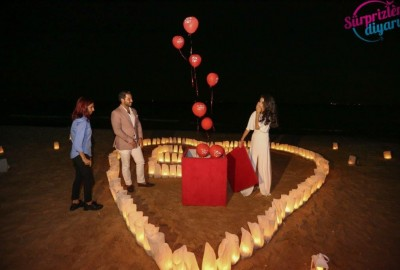 Surprise Marriage Proposal on the Beach - 608