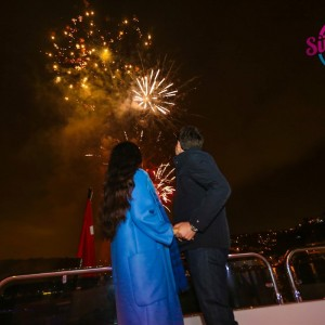Laser Light Marriage Proposal and Fireworks Display Eco Package